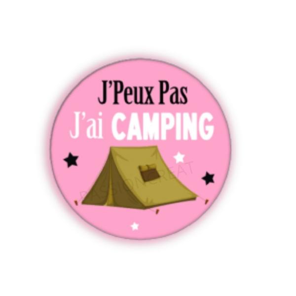 J'Peux Pas J'Ai Camping 2 Cabochons - Photo n°1