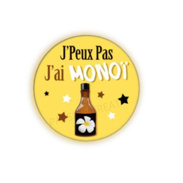 J'Peux Pas J'Ai Monoï 2 Cabochons - Photo n°1