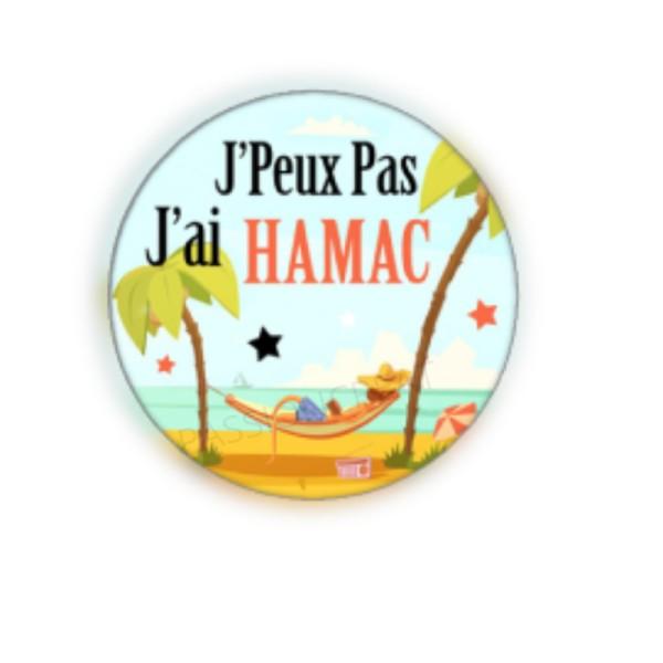 J'Peux Pas J'Ai Hamac 2 Cabochons - Photo n°1