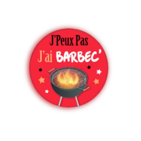 J'Peux Pas J'Ai Barbec' 2 Cabochons - Photo n°1
