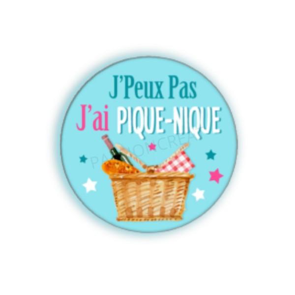 J'Peux Pas J'Ai Pique-Nique 2 Cabochons - Photo n°1