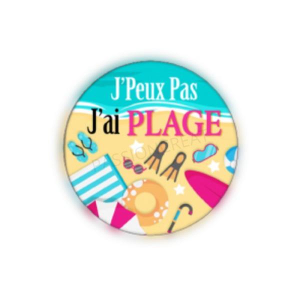J'Peux Pas J'Ai Plage 2 Cabochons - Photo n°1