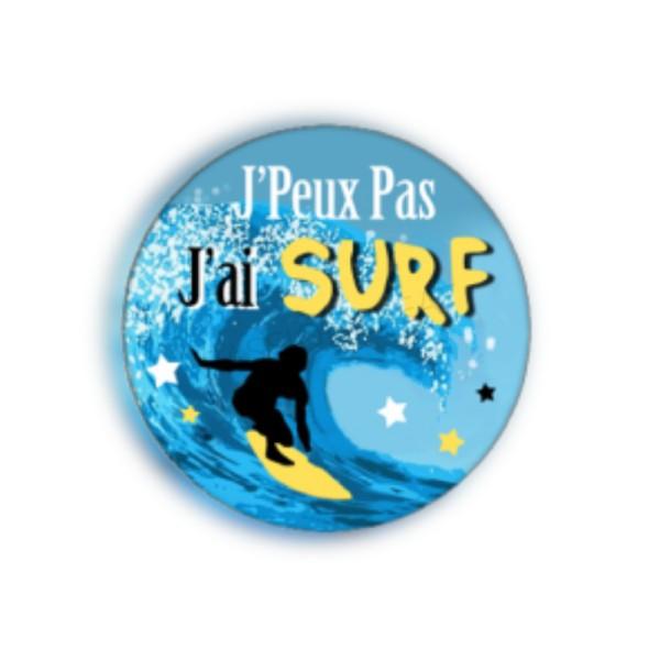 J'Peux Pas J'Ai Surf 2 Cabochons - Photo n°1