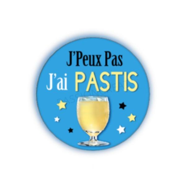 J'Peux Pas J'Ai Pastis 2 Cabochons - Photo n°1