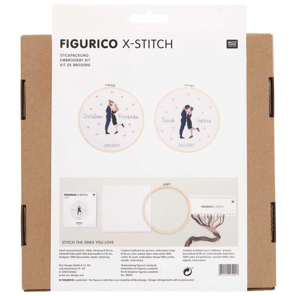 Kit Broderie FiguRico - Amoureux - Ø 20 cm - Photo n°3