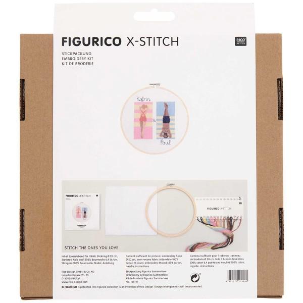 Kit Broderie FiguRico - Amour à la plage - Ø 20 cm - Photo n°3