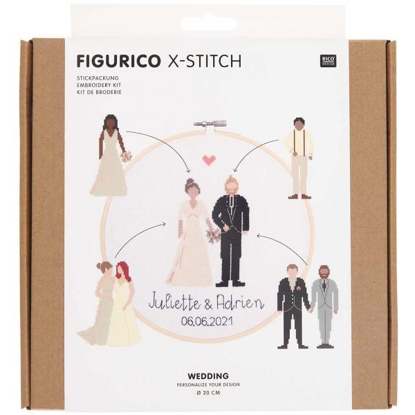 Kit Broderie FiguRico - Mariage - Ø 20 cm - Photo n°1