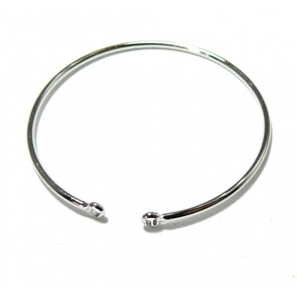 BN1129449 PAX 1 Support bracelet Jonc avec anneau 55mm Laiton couleur Argent Platine - Photo n°1
