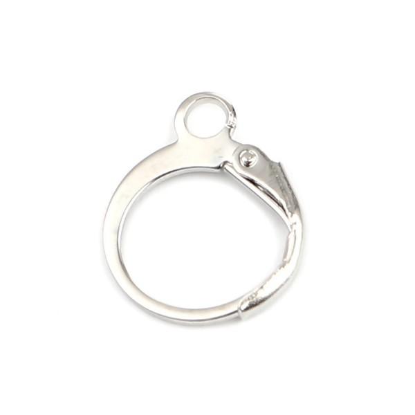 S11659863 PAX 20 Boucles d'oreille dormeuses Cercle avec attache Métal Coloris Argent Platine - Photo n°1