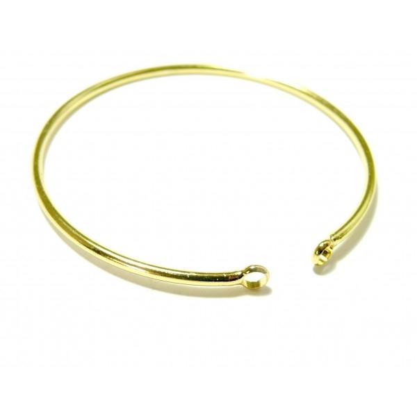 BN1129449BIS PAX 1 Support bracelet Jonc avec anneau 65mm Laiton couleur Or Clair - Photo n°1