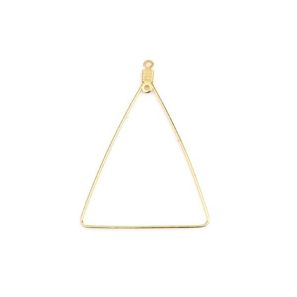 PS110254655 PAX 4 pendentifs Anneaux Connecteur forme Triangle 49mm Acier Inoxydable 304 couleur Do - Photo n°1