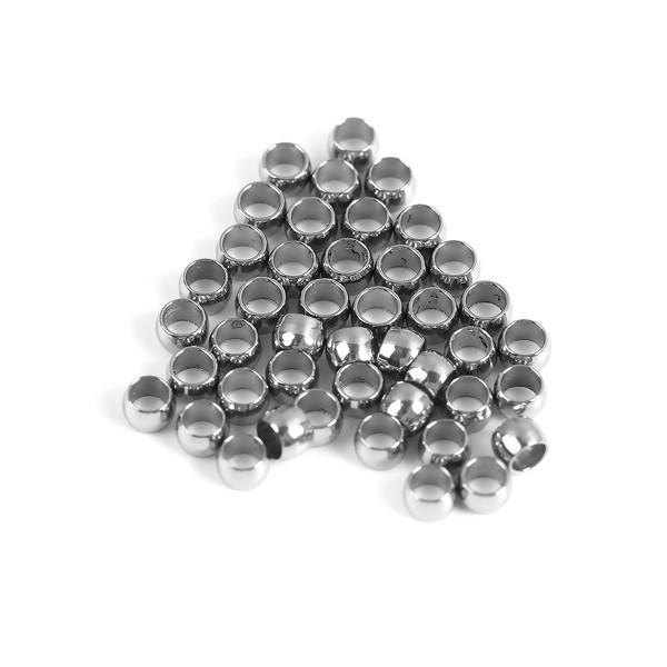 PS110096318 PAX 25 Perles à Ecraser en Acier Inoxydable 2mm - Photo n°1