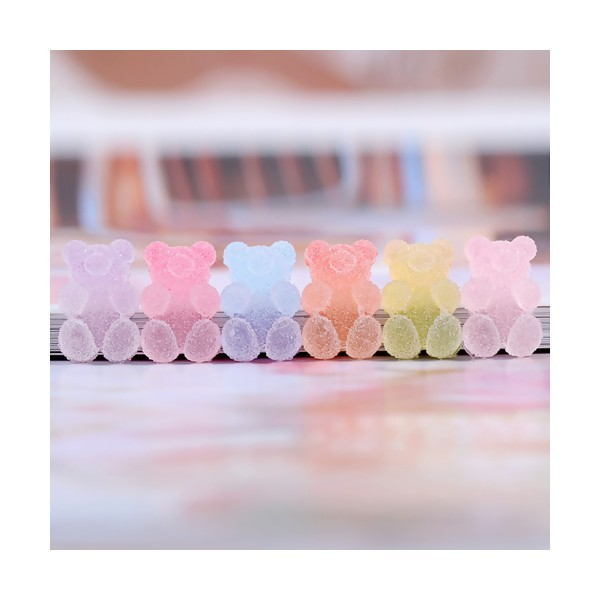 PS11699690 PAX 10 Cabochons Ourson 15mm style Bonbons au sucre - Photo n°1