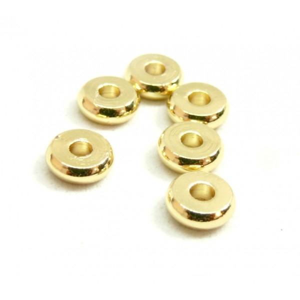 BU160420083407 PAX 20 perles intercalaires Rondelles 3 par 1mm Laiton couleur Doré - Photo n°1