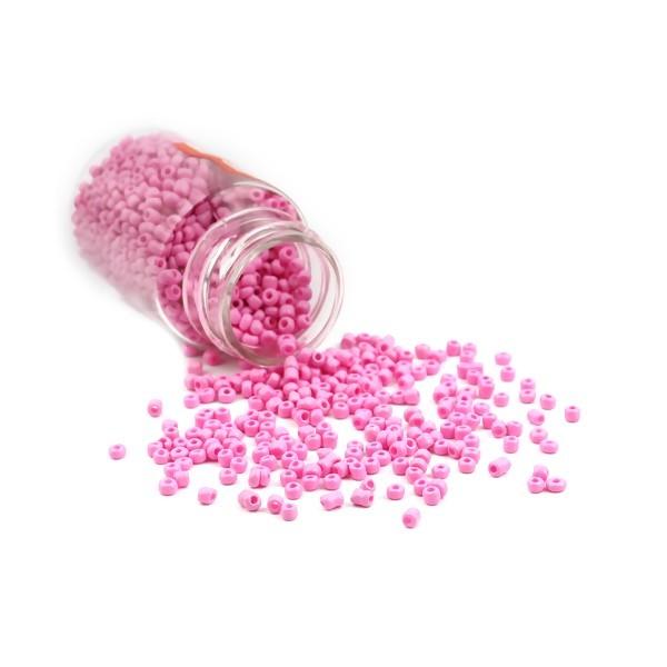 S11706493 PAX 1 Flacon d'environ 2000 Perles de rocaille en verre Rose 2mm 30gr. - Photo n°1