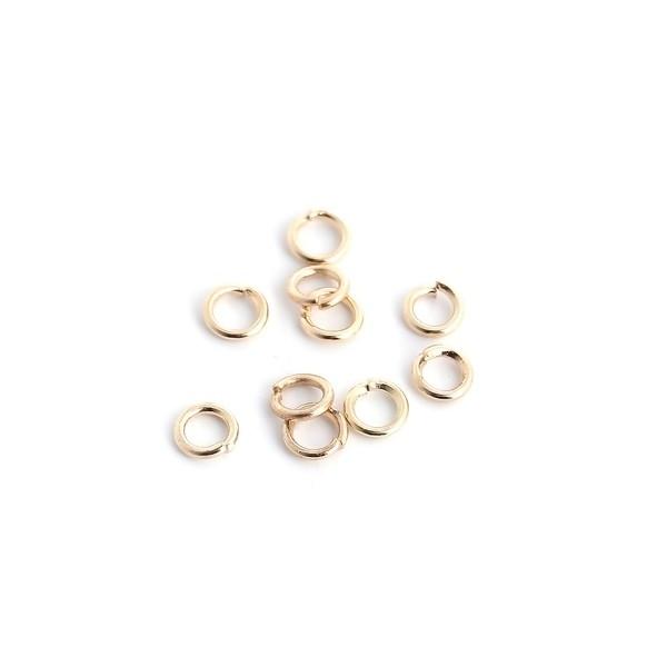 PS11100521 PAX 200 anneaux de jonction OR CLAIR 5mm par 1mm - Photo n°1