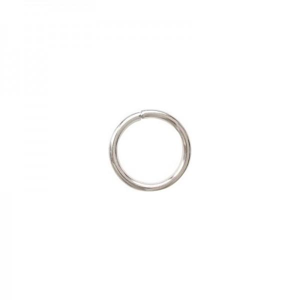 PS114409 PAX 100 anneaux de jonction métal couleur Argent Vif 9mm par 1,2mm - Photo n°1