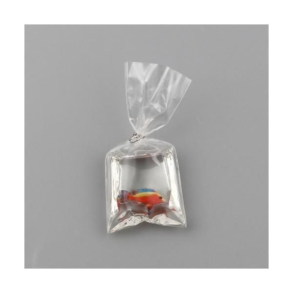 PS11715133 PAX 2 Pendentifs Poisson Aquarium dans sachet 50mm avec attache coloris Argent - Photo n°1