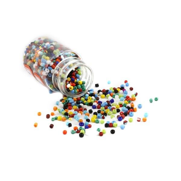 S11706484 PAX 1 Flacon d'environ 2000 Perles de rocaille en verre Multicolores 2mm 30gr - Photo n°1