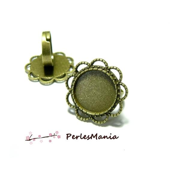 10 supports de bague ARTY Paquerette H360611 qualité 18 mm BRONZE - Photo n°1