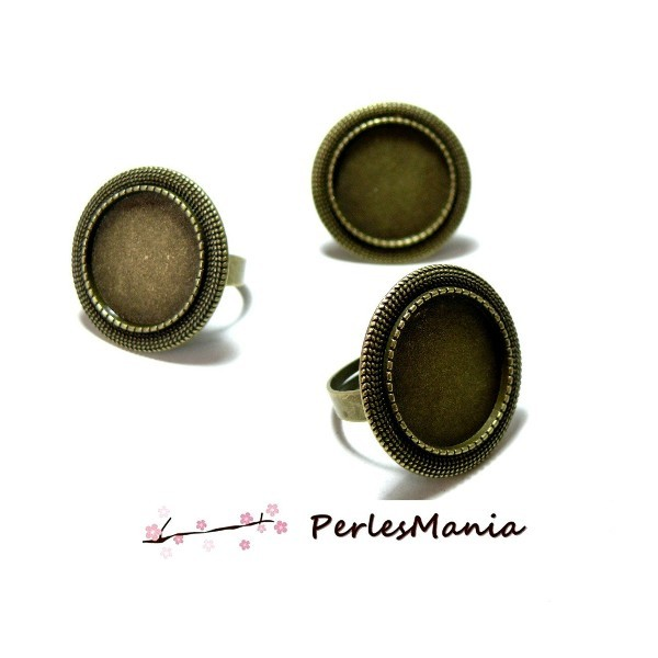PAX 10 supports bagues ARTY Triple cercle ref 150311174246B BRONZE - Photo n°1