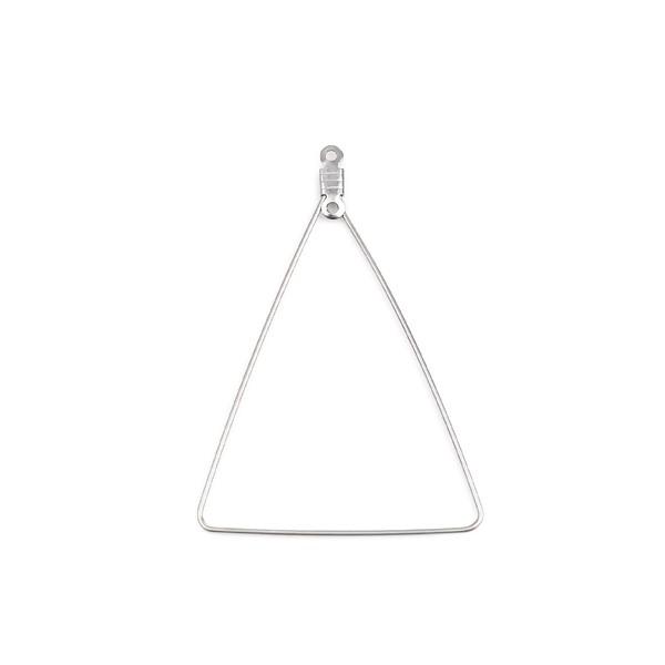 PS110254654 PAX 5 pendentifs Connecteur forme Triangle 49mm Acier Inoxydable 304 couleur Argent - Photo n°1