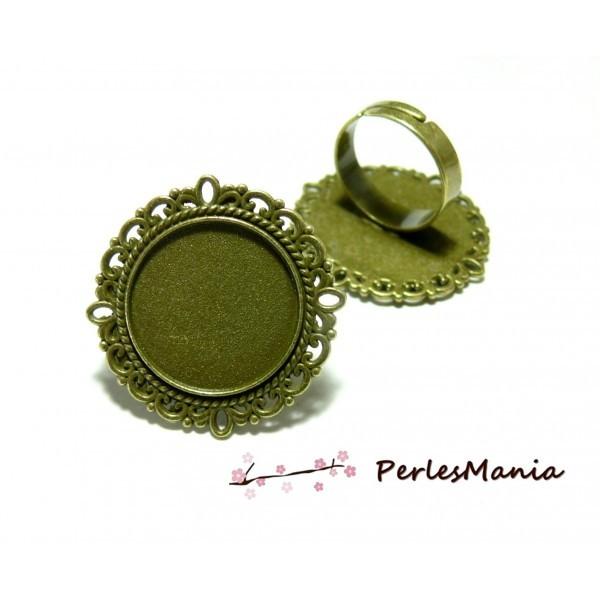 5 bagues ARTY Retro qualité 20mm BRONZE ref162 materiel pour création de bijoux - Photo n°1