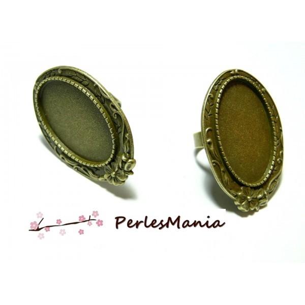 5 bagues ARTY P3614 qualité 20 par 30mm BRONZE materiel pour création de bijoux - Photo n°1