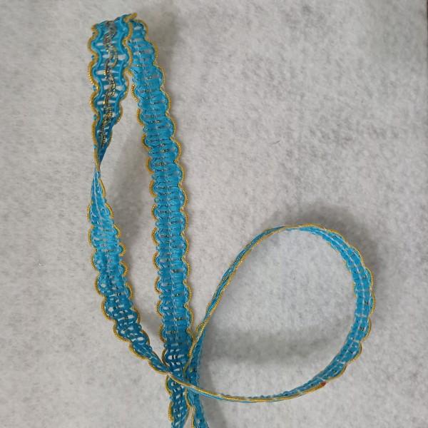 Rouleau de ruban de 25  mètres bleu et orange doré - Photo n°1