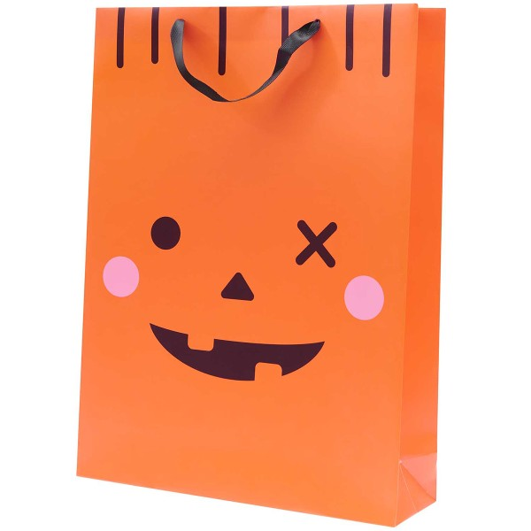 Sac cadeau en papier XL - Citrouille - 33 x 45 x 10 cm - 1 pce - Photo n°1