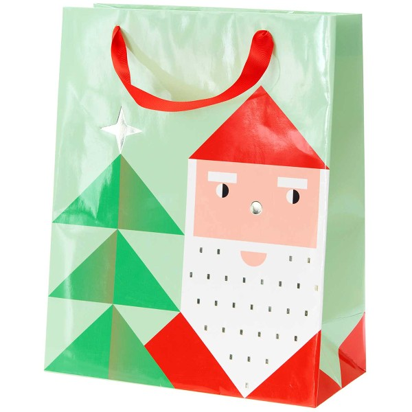 Sac cadeau en papier - Père Noël - 26 x 32 x 12 cm - 1 pce - Photo n°1