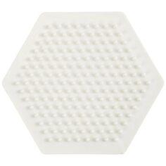 Plaque pour perles à repasser en plastique Bio - Hexagone - 8,5 cm - 1 pce
