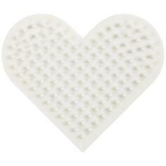 Plaque pour perles à repasser en plastique Bio - Coeur - 7 x 8,5 cm - 1 pce