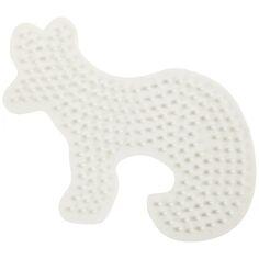 Plaque pour perles à repasser en plastique Bio - Renard - 9,5 x 13,4 cm - 1 pce