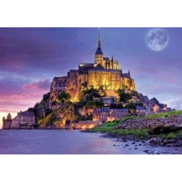 Broderie Diamant - Le Mont Saint Michel 40X50cm - Photo n°1