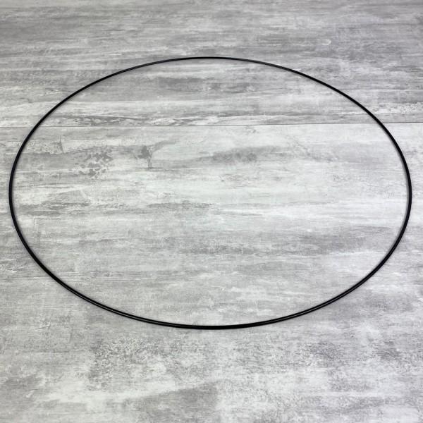 Grand Cercle métallique noir, diam. 50 cm pour abat-jour, Anneau epoxy Attrape rêves - Photo n°2