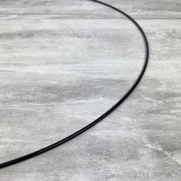 Grand Cercle métallique noir, diam. 50 cm pour abat-jour, Anneau epoxy Attrape rêves - Photo n°3