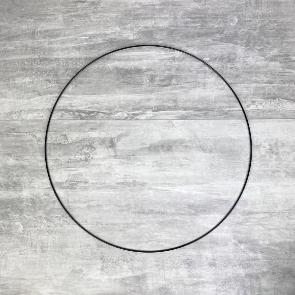 Grand Cercle métallique noir, diam. 50 cm pour abat-jour, Anneau epoxy Attrape rêves - Photo n°1