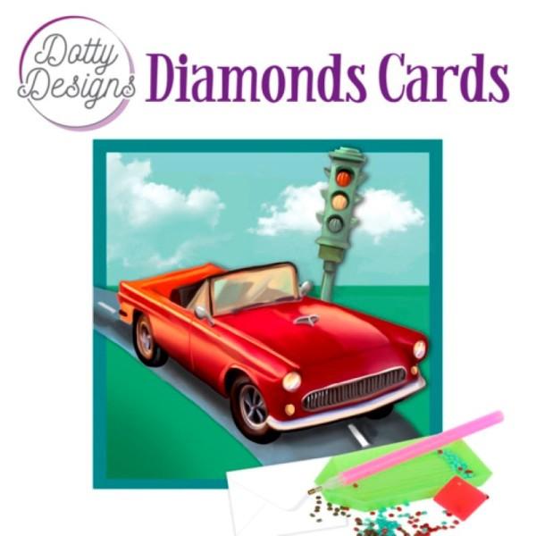 Dotty Designs Diamond Cards - Vintage Red Car - Photo n°1