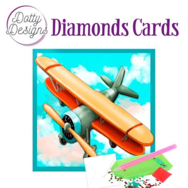 Dotty Designs Diamond Cards - Vintage Biplane - Photo n°1
