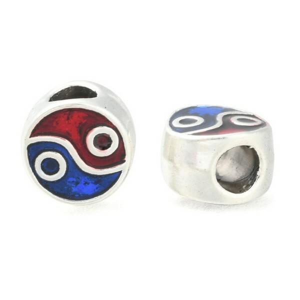 10 perles européenne charm bracelet métal émaillé DECORATION - Photo n°1