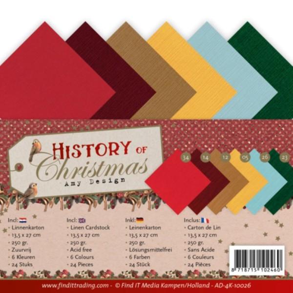 Set 24 cartes carrées Histoire de Noël 13.5x27cm - Photo n°1