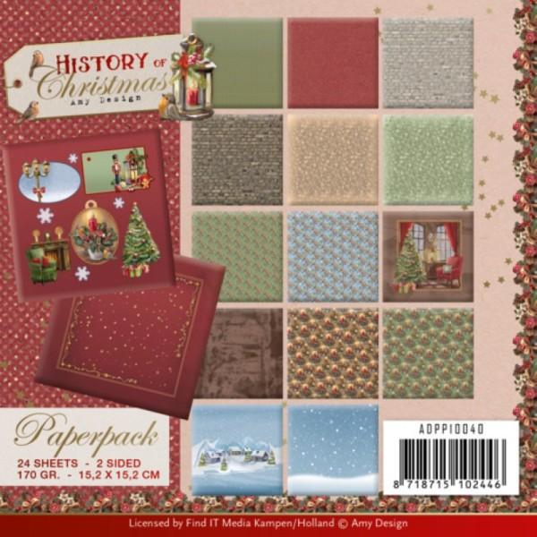 Bloc de papier - Amy Design - Histoire de Noël 15.2 x 15.2 - Photo n°1