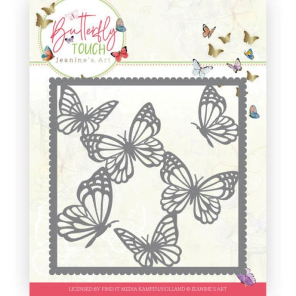 Die - Jeaninnes art - JAD10118 - Butterfly Touch - Cadre papillons - Photo n°1