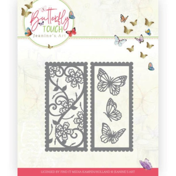 Die - Jeaninnes art - JAD10123 - Butterfly Touch - Double cadre de papillons - Photo n°1