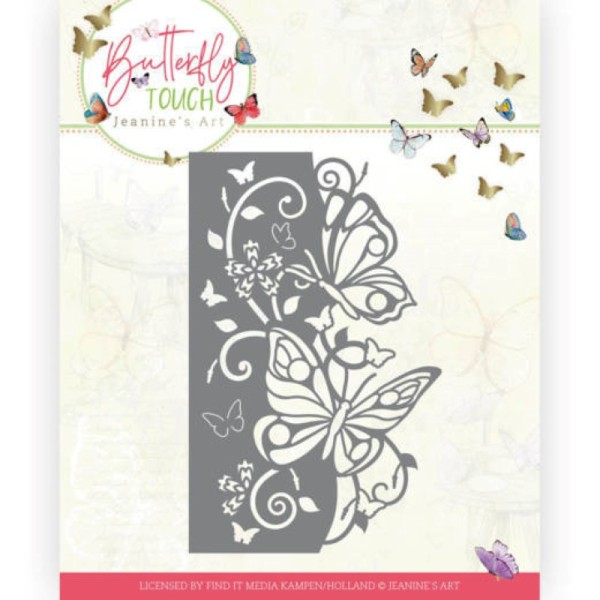 Die - Jeaninnes art - JAD10119 - Butterfly Touch - Bordure papillons - Photo n°1