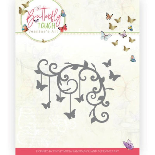 Die - Jeaninnes art - JAD10125 - Butterfly Touch - Coin papillons - Photo n°1
