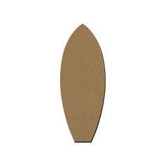 Planche de Surf en bois - 28 x 10,5 cm