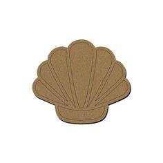 Coquillage en bois - 17,5 x 15 cm