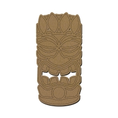 Totem Tikki Plume en bois - 28 x 13,5 cm